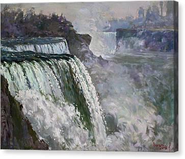Niagara Falls Canvas Print - Niagara American Falls 2 by Ylli Haruni