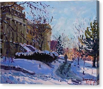 Niagara Arts And Cultural Center Canvas Print by Ylli Haruni