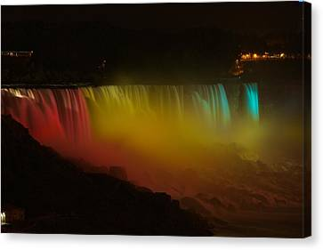 Canvas Print featuring the photograph Niagara Falls A Glow by Dave Files