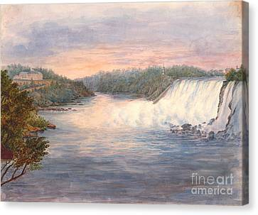 Niagara Falls From Table Rock 1846 Canvas Print by Padre Art