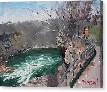 Niagara Falls Gorge Canvas Print by Ylli Haruni