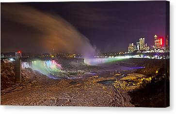 Niagara Falls Ice Bridge Canvas Print by Richard Engelbrecht