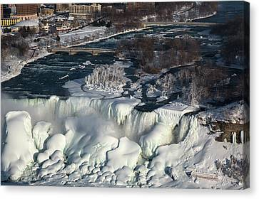Ice Formations Canvas Print - Niagara Falls In Winter by Jim West