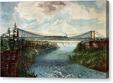 Niagara Falls Suspension Bridge Canvas Print