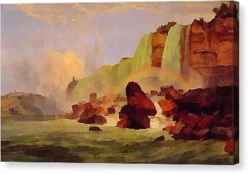 Niagara Falls With View Of Clifton House Canvas Print by Jasper Francis