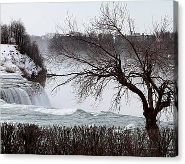 Niagara In Winter Canvas Print