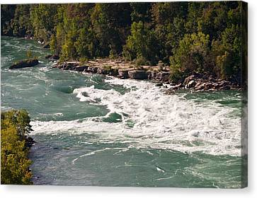 Niagara River Rapids Canvas Print by Marek Poplawski