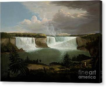 Niagra Falls By Alvan Fisher Canvas Print