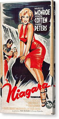 Niagra, Us Poster, From Left Joseph Canvas Print by Everett