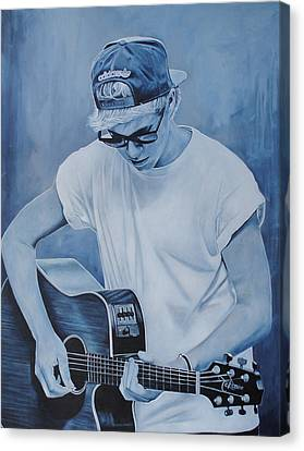 Canvas Print featuring the painting Niall Horan by David Dunne