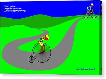 Nibali Wins Stage 2 Canvas Print