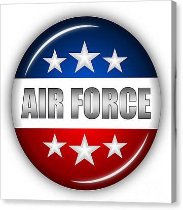 Nice Air Force Shield Canvas Print by Pamela Johnson
