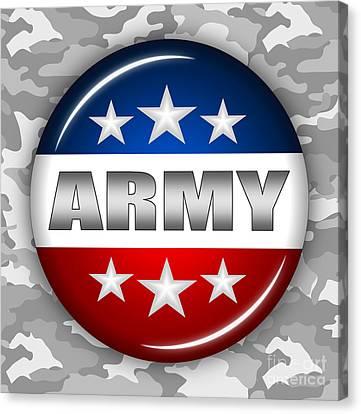 Nice Army Shield 2 Canvas Print by Pamela Johnson
