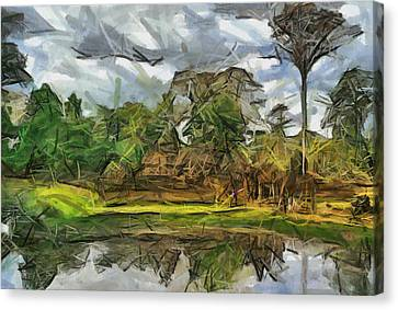 Nice Cambodia Temple Canvas Print by Teara Na