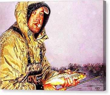 Nice Catch Canvas Print