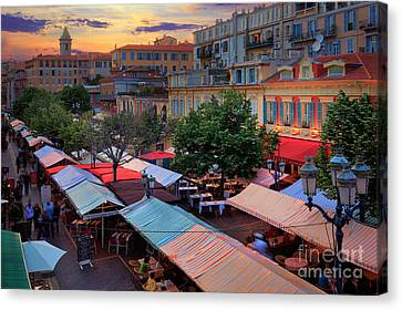 Nice Flower Market Canvas Print by Inge Johnsson