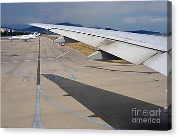 Nice Internationat Airport Canvas Print by Sami Sarkis