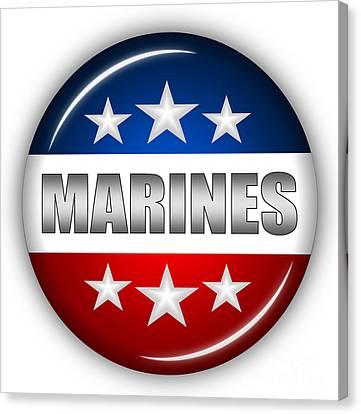 Nice Marines Shield Canvas Print by Pamela Johnson