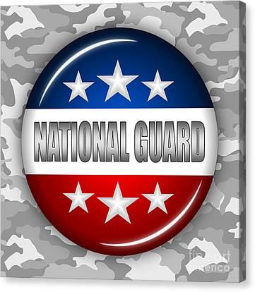 Nice National Guard Shield 2 Canvas Print by Pamela Johnson