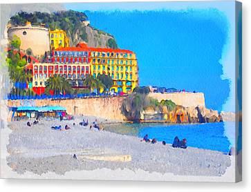 Nice Riviera 1 Canvas Print by Yury Malkov