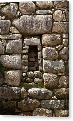 Niche And Stone Window Align Perfectly Canvas Print