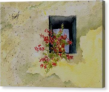 Niche With Flowers Canvas Print by Sam Sidders
