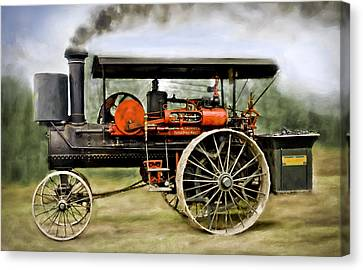 Nichols And Shepard Steam Traction Engine Canvas Print by F Leblanc