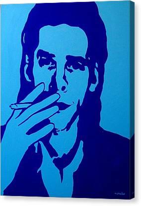 Nick Cave Canvas Print by John  Nolan