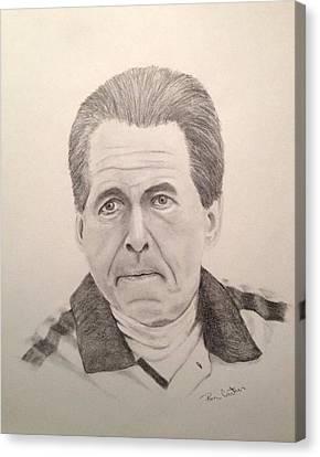 Nick Saban Canvas Print by Ron Cartier