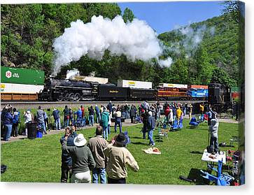 Nickel Plate Berkshire At Horseshoe Curve Canvas Print by Matthew Chapman
