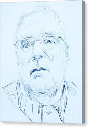 Nick's Portrait Canvas Print by PainterArtist FINs husband Maestro