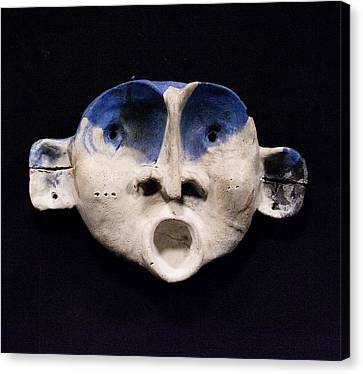 Nico Cobalt Mask Canvas Print by Mark M  Mellon