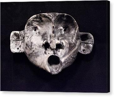 Nico Marble Mask Canvas Print by Mark M  Mellon