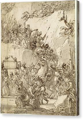 Nicola Malinconico, Italian 1663-1721, The Transport Canvas Print by Litz Collection
