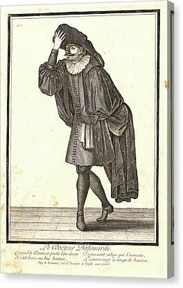 Nicolas Bonnart French, 1636 - 1718. Le Docteur Balouarde Canvas Print