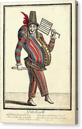 Nicolas Bonnart French, 1636 - 1718. Polichinelle Canvas Print