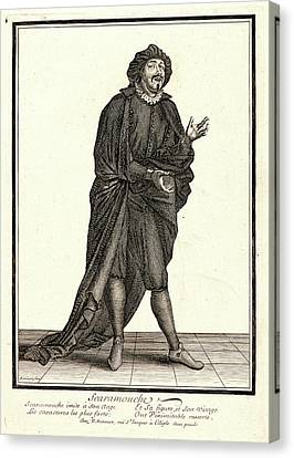 Nicolas Bonnart French, 1636 - 1718. Scaramouche Canvas Print