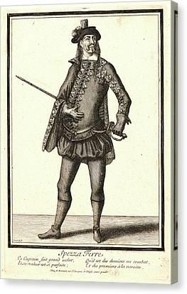Nicolas Bonnart French, 1636 - 1718. Spezza Ferre Canvas Print