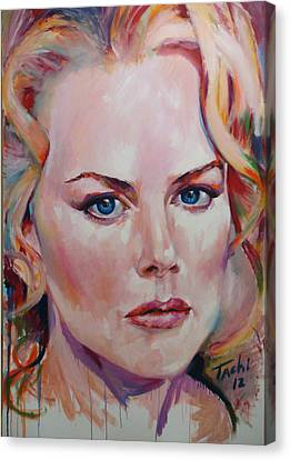 Nicole Canvas Print by Tachi Pintor