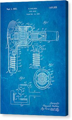 Quilter Canvas Print - Nielsen Hair Dryer Patent Art 1929 Blueprint by Ian Monk