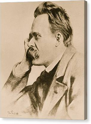 Ears Canvas Print - Nietzsche by Anonymous