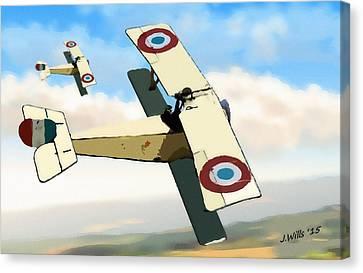 Nieuport 11 Bebe Canvas Print by John Wills