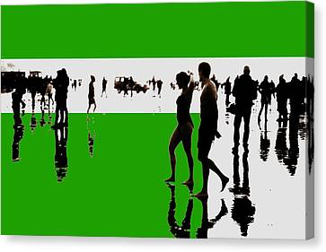 Canvas Print - Nieuwjaarsduik 30 by Xoanxo Cespon