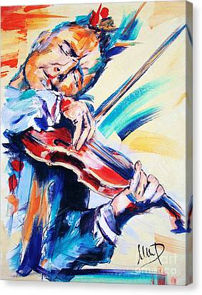 Nigel Kennedy Canvas Print by Melanie D
