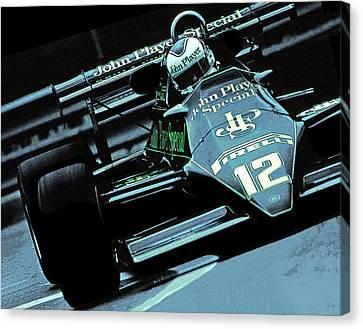 Canadian Grand Prix Canvas Print - Nigel by Mike Flynn