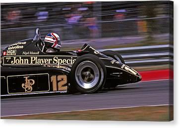 Canadian Grand Prix Canvas Print - Nigel's Lotus by Mike Flynn