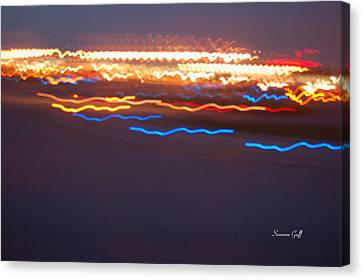 Night Abstract Iv Canvas Print by Suzanne Gaff