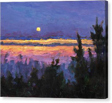 Night Across The Bay Canvas Print