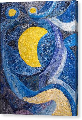 Wandering Star Canvas Print - Night by Agnes Roman