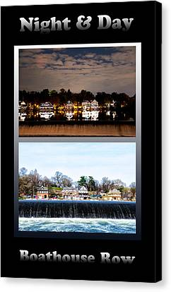 Row Boat Canvas Print - Night And Day by Bill Cannon